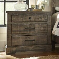 Meadow 3 Drawer Nightstand