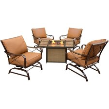 Summer Night 5 Piece Rocker Seating Group with Cushion