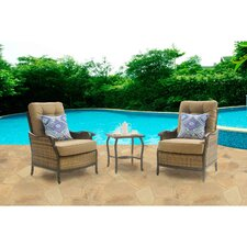 Hudson 3 Piece Deep Seating Group with Cushions