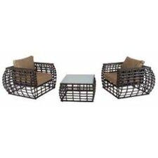 Soho 3 Piece Lounge Set with Cushions