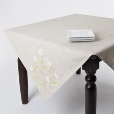 Ribbon Embroidered Table Topper