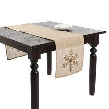 Beaded Snowflake Table Runner