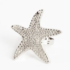 Star Fish Design Napkin Rings (Set of 4)