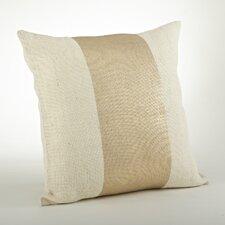 Lamina Banded Cotton Throw Pillow