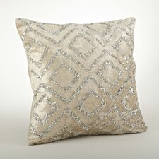 Glittery Velvet Sequined Cotton Throw Pillow