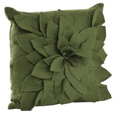 Flower Polyester Throw Pillow