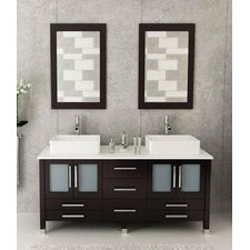 "72"" Double Bathroom Vanity Set with Mirrors"
