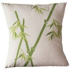 Bamboo on Alabaster Cotton Throw Pillow
