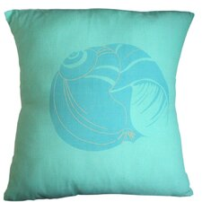 Floridian Coast Shell Cotton Throw Pillow