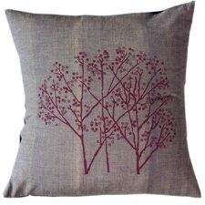 Magenta Woods on Graphite Cotton Throw Pillow