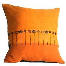 Sunbound Stems Cotton Throw Pillow