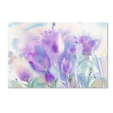 """""""Purple Blues"""" by Sheila Golden Painting Print on Wrapped Canvas"""