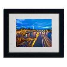 """Alexander Bridge Paris"" by Mathieu Rivrin Matted Framed Photographic Print"