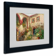 'Tuscany Courtyard' by Rio Matted Framed Painting Print