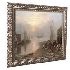 'Sun Rising Through Vapor' by Joseph Turner Ornate Framed Art