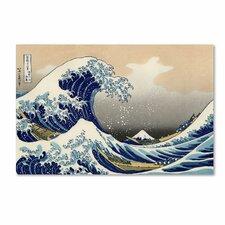 """The Great Kanagawa Wave"" by Katsushika Hokusai Painting Print on Wrapped Canvas"
