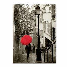 'Paris Stroll II' by Sue Schlabach Photographic Print on Canvas