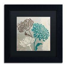 'Chrysanthemums II' by Wellington Studio Framed Graphic Art