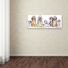 'The Gang' by Pat Saunders-White Painting Print on Wrapped Canvas