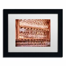"""""""Drinks on the House"""" by Lois Bryan Framed Painting Print in Salsa Red"""