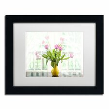 """""""Tulips in the Window"""" by Lois Bryan Framed Photographic Print in Pink"""