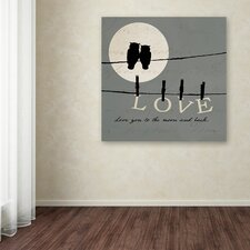 'Moon Lovers I' by Pela Studio Textual Art on Wrapped Canvas
