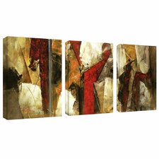 Abstract IX' by Lopez 3 Piece on Wrapped Canvas Set