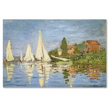 'Regatta at Argenteuil' by Claude Monet Painting Print on Canvas