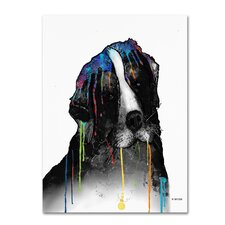 Bernese Mountain Dog by Marlene Watson Painting Print on Wrapped Canvas