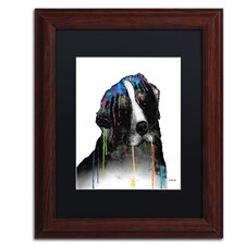 Bernese Mountain Dog by Marlene Watson Framed Painting Print