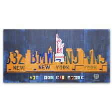 """""""New York City Skyline"""" by Design Turnpike Graphic Art on Wrapped Canvas"""