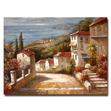 'Home in Tuscany' by Joval Painting Print on Canvas
