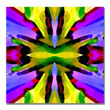 """""""Paradise Purple and Yellow"""" by Amy Vangsgard Graphic Art on Wrapped Canvas"""