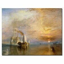'The Fighting Temeraire, 1839' by Joseph Turner Painting Print on Canvas