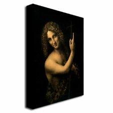 """St. John the Baptist, 1513-16"" by Leonardo Da Vinci Painting Print on Canvas"