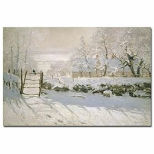"""The Magpie, 1869"" by Claude Monet Painting Print on Canvas"