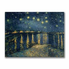 """""""The Starry Night II"""" by Vincent Van Gogh Painting Print on Canvas"""