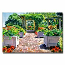 """The Beautiful Italian Garden"" by David Lloyd Glover Painting Print on Canvas"