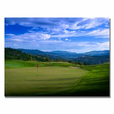 'Red Pin on the Green Canvas Golf Art ' Photographic Print on Canvas