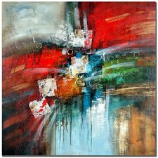 'Cube Abstract IV' by Rio Painting Print on Canvas
