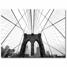 """NYC Brooklyn Bridge"" by Nina Papiorek Photographic Print on Wrapped Canvas"