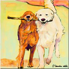 """Stick with Me"" by Pat Saunders-White Painting Print on Canvas"