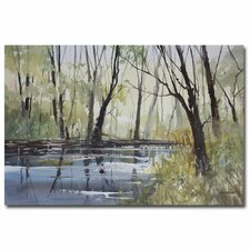 """""""Pine River Reflections"""" by Ryan Radke Painting Print on Wrapped Canvas"""