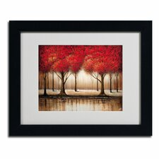 'Parade of Red Trees' by Rio Framed Painting Print
