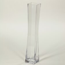 Sqaure Clear Glass Vase