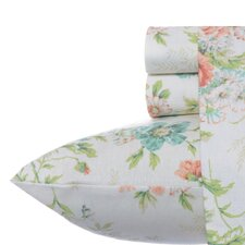 Arundel Apricot Flannel Sheet Set