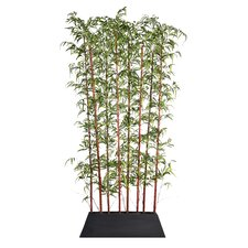 """96"""" x 14"""" Bamboo Screen in Pot 1 Panel Room Divider"""