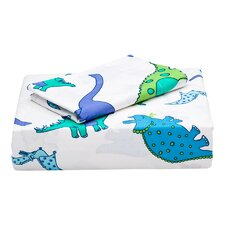 Dinosaur Flannel Sheet Set