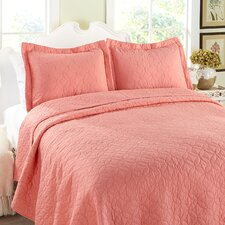 Cotton Reversible Coverlet Set