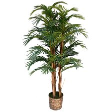 Tall High End Realistic Silk Palm Tree in Basket
